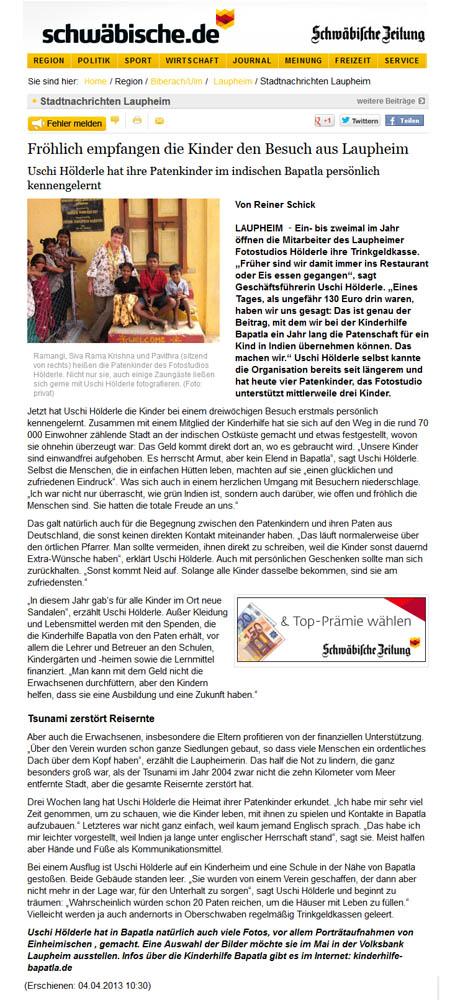Schwäbische Zeitung 4_4_2013