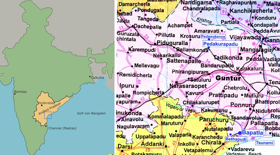 Kinderhilfe-Bapatla-Landkarte