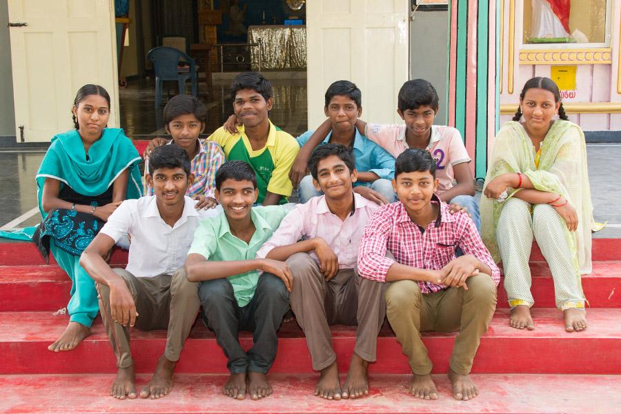 Schüler der 10ten Klasse in Bapatla